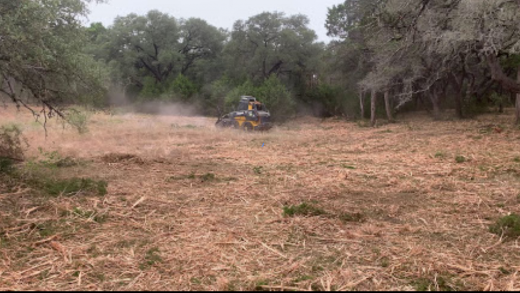 Land Clearing using a mulcher